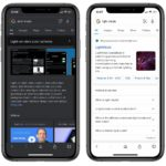 Google search app for iPhone Dark vs Light theme