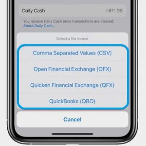 How to export Apple Card transaction data from iPhone