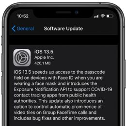iOS 13.5 Software Update screen