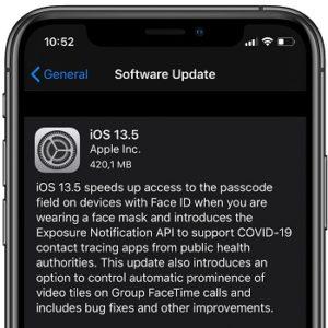 iOS 13.5 Software Update screen