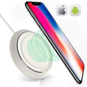 iPhone on Samsung wireless charging pad