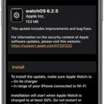 watchos 6.2.5 software update screen