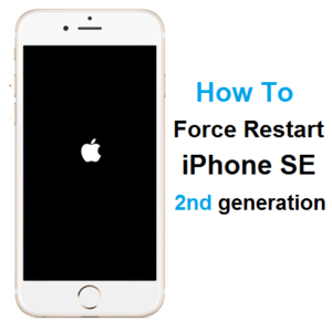 white iPhone SE 2 force restarting