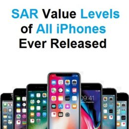 SAR values of all iPhones ever released