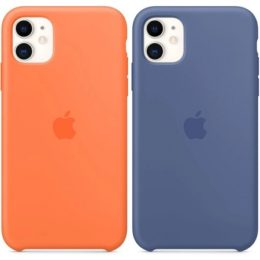 Vitamin C and Linen Blue iPhone 11 Silicone cases