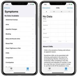 how to add symptoms to iOS Health app
