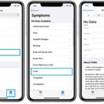 how to add symptoms to iPhone Health app