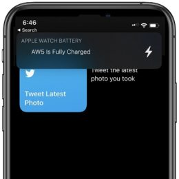 iOS 14 Apple Watch is fully charged banner notification