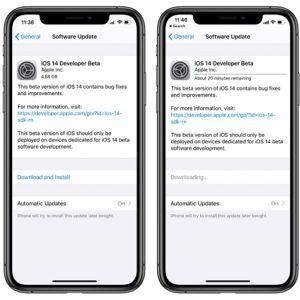 iOS 14 Developer Beta Download