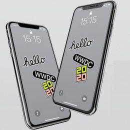 iPhone 11 displaying WWDC 2020 Wallpaper