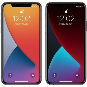 stock iOS 14 wallpapers Light and Dark Themes
