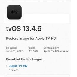 tvOS 13.4.6 Software Update screen