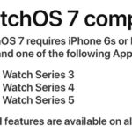 watchOS 7 compatibility list