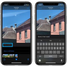 Add a Caption to photo in iOS 14