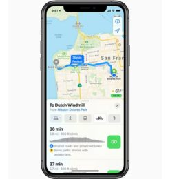Apple Maps Cycling Directions on iPhone