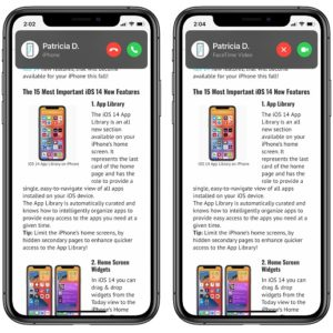 New iPhone Incoming Call Banner notifications in iOS 14