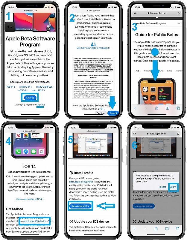 how to download iOS 14 Beta Configuration Profile