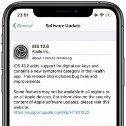 iOS 13.6 Software Update screen