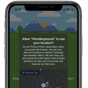 iOS 14 Precise Location setting