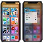 iPhone App Library quick action shortcuts