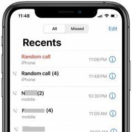 iPhone random calls issue