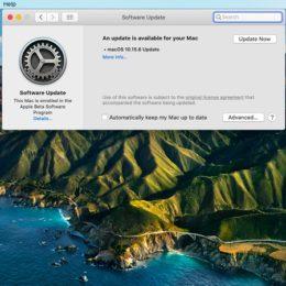 macOS Catalina 10.15.6 Software Update