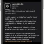 watchOS 6.2.8 software update log