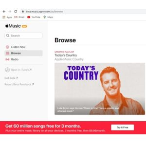 Apple Music Beta website gets in sync with iOS 14