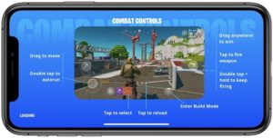 Fortnite game controls for iPhone
