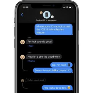 Inline Replies in Messages group conversation