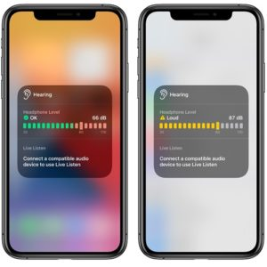 Real time headphone level checker in iOS 14