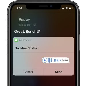 Send audio message with Siri in iOS 14