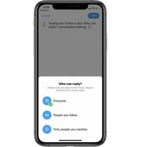 'Who can reply' new Twitter conversation setting
