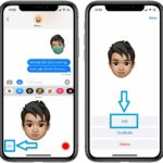 how to add mask to Memoji in Messages