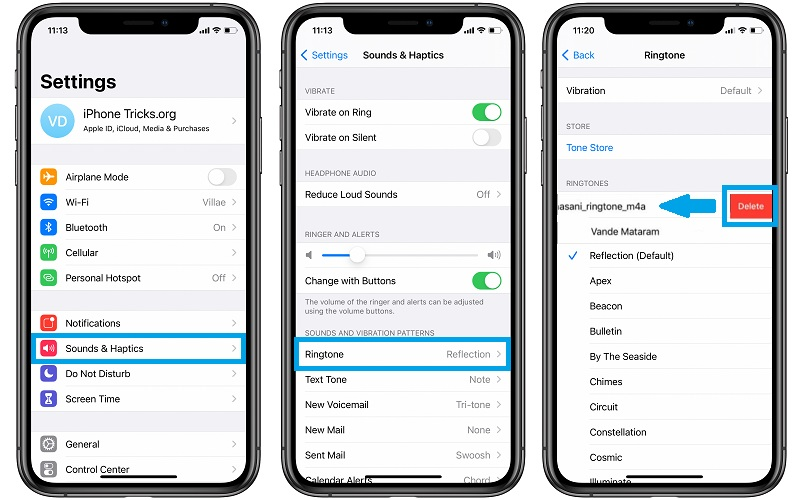 how to delete ringtone from iPhone
