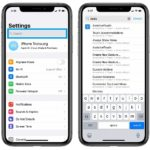how to use the Settings search option