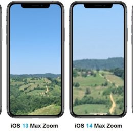 iOS 13 vs iOS 14 max zoom comparison