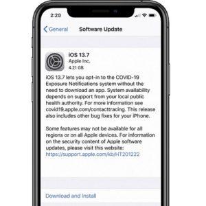 iOS 13.7 software update