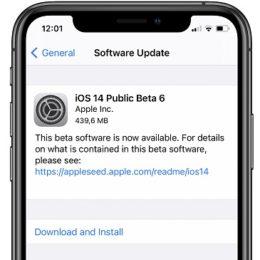 iOS 14 Public Beta 6 software update