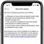 ios 13.6.1 update log