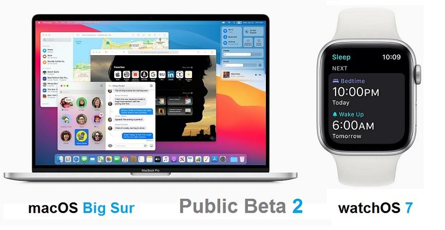 macOS Big Sur and watchOS 7 Public Beta 2