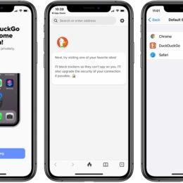 DuckDuckGo default web browser on iPhone