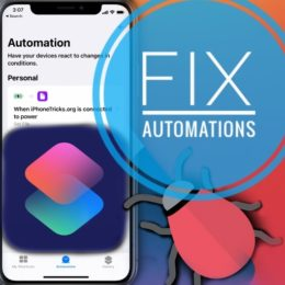 Fix iOS 14 Automations bug