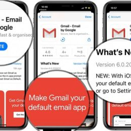 Gmail default mail app on iPhone