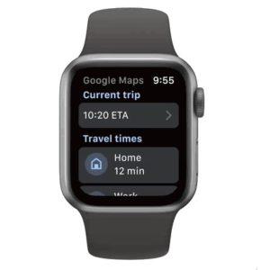 New Google Maps on Apple Watch