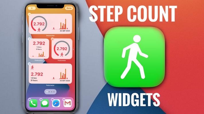 Step Counter Home Screen Widget iOS 14