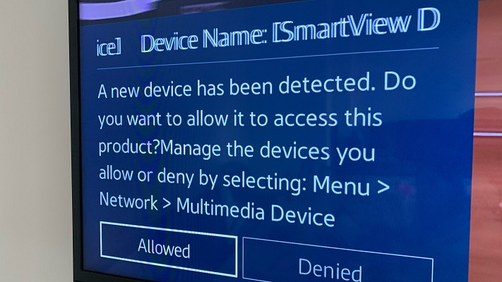 allow new device to connect and screencast to your smart TV