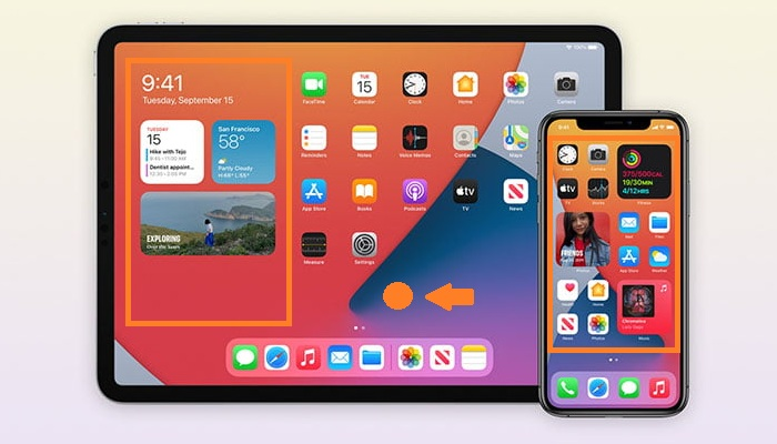 how to add widget to iPad Home Screen