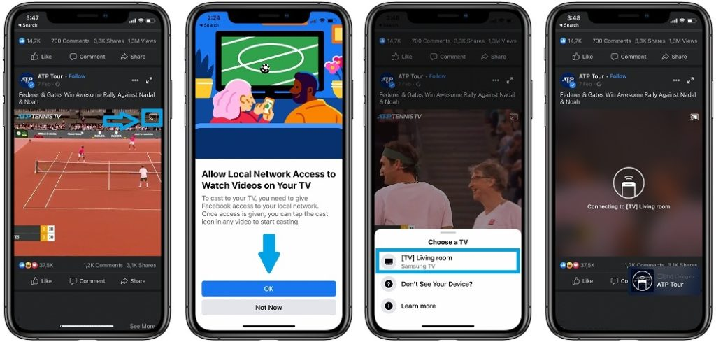 how to allow facebook videos local network access