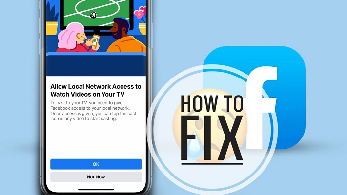 how to fix Facebook local network access problem